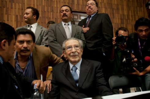MOMENT OF TRUTH: RIOS MONTT LISTENS TO THE VERDICT