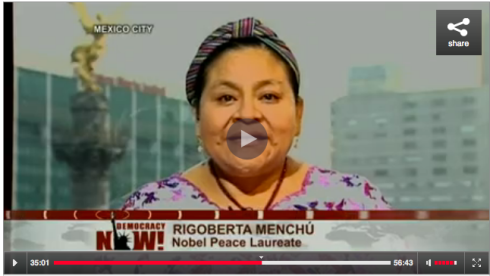 RIGOBERTA MENCHU REACTS TO THE VERDICT