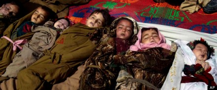 AFGHAN CHILDREN BENEATH THE FREEZING POINT