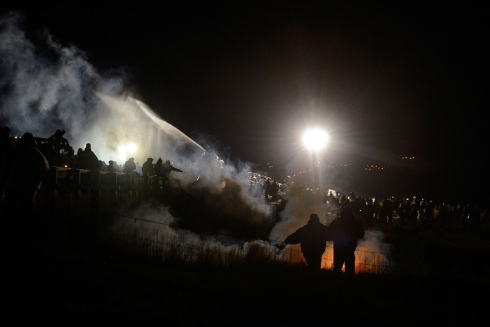 POLICE RIOT AT STANDING ROCK