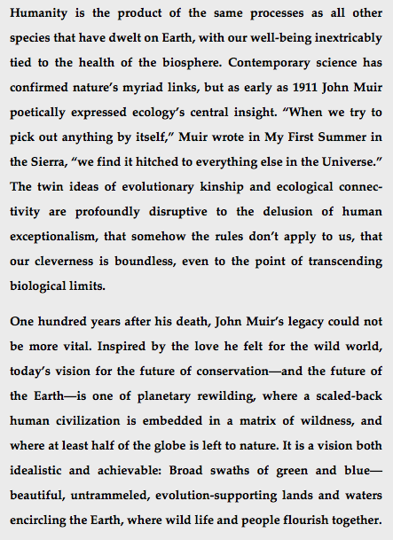 "mark adlington desperado philosophy note to those who place their faith in de extinction and other arrogant expressions of hubris technology will not save us we are ""inverted utopians"""