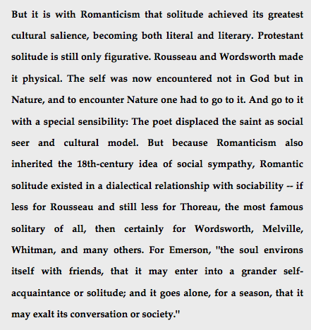 the end of solitude desperado philosophy during a time of year when we crave the solitude of the deep forest we re a few paragraphs of an essay by william deresiewicz dating from 2009